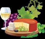 Вино, коньяк, фужеры