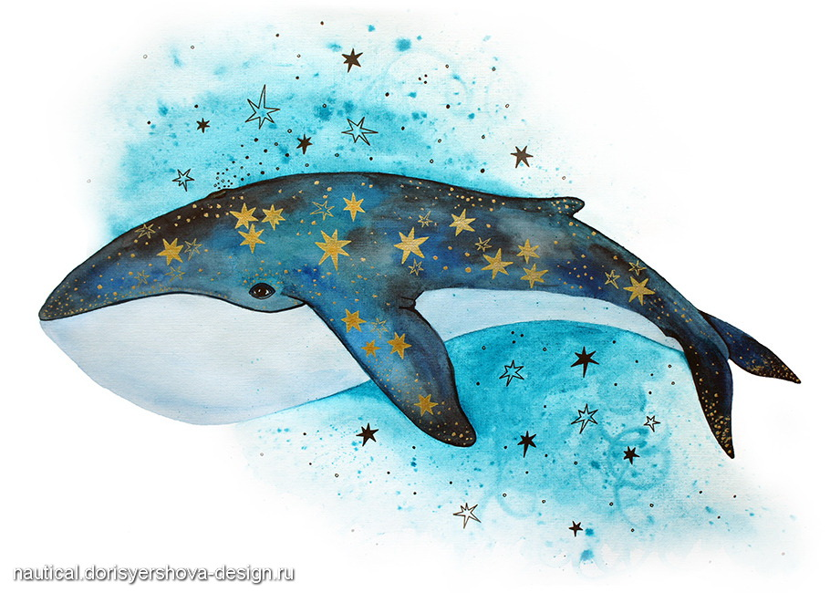 кит рисунок