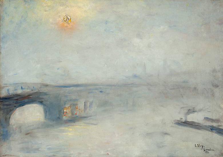 Мост Ватерлоо в Тумане, 1926 год Ури ЛЕССЛЕР