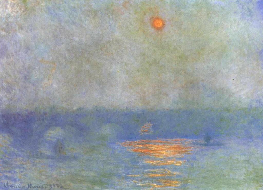 Мост Ватерлоо - солнце за туманом 1903