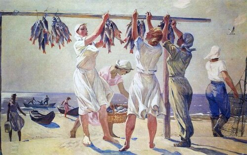 Художник Дейнека Александр Александрович (1899—1969)     У моря 1956-57