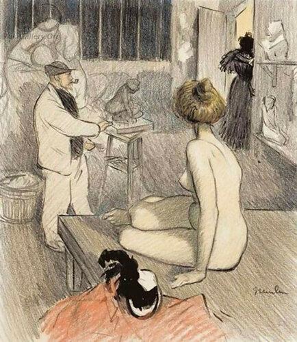 Théophile-Alexandre Steinlen; В мастерской художника In the Artist's Studio 1898