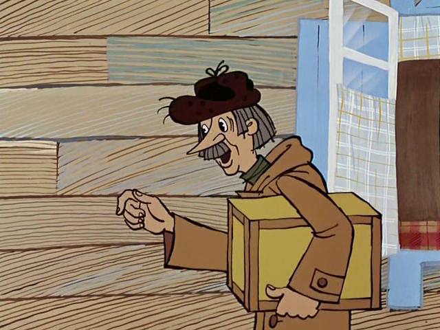 С Днем Российской Почты! Почтальон Печкин принес посылочный ящик открытки фото рисунки картинки поздравления