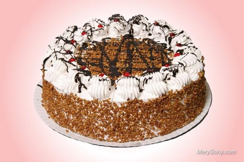 Аппетитный торт бело-коричневый.  Международный день торта!