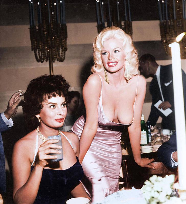 Софи Лорен и Джейн Мэнсфилд, 1960-е годы.