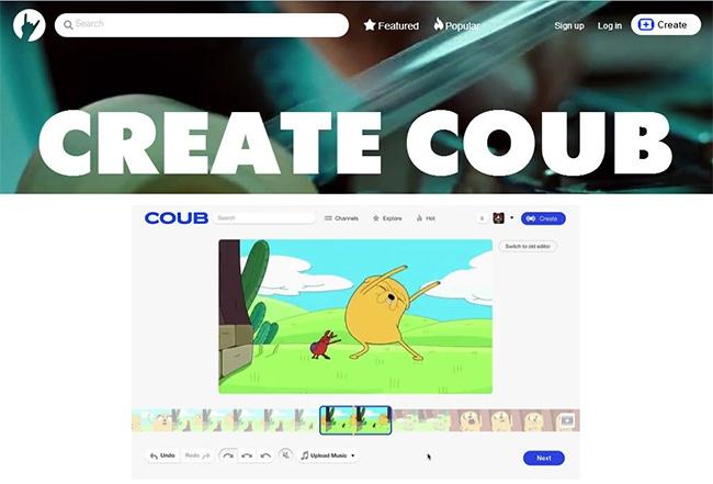 © coub.com  Несложный инструмент для микширования видеофайлов исоздания цикличных видео. Есть