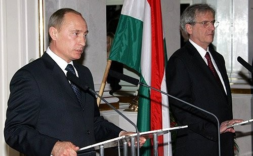 08-Совместная пресс-конференция с Президентом Венгрии Ласло Шойомом по итогам двусторонних переговоров