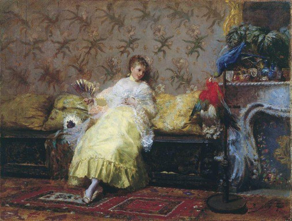 3 Giuseppe De Nittis lady with parrot.jpg