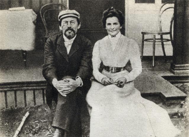 А.П.Чехов и жена писателя - знаменитая актриса Ольга Книппер-Чехова.jpg