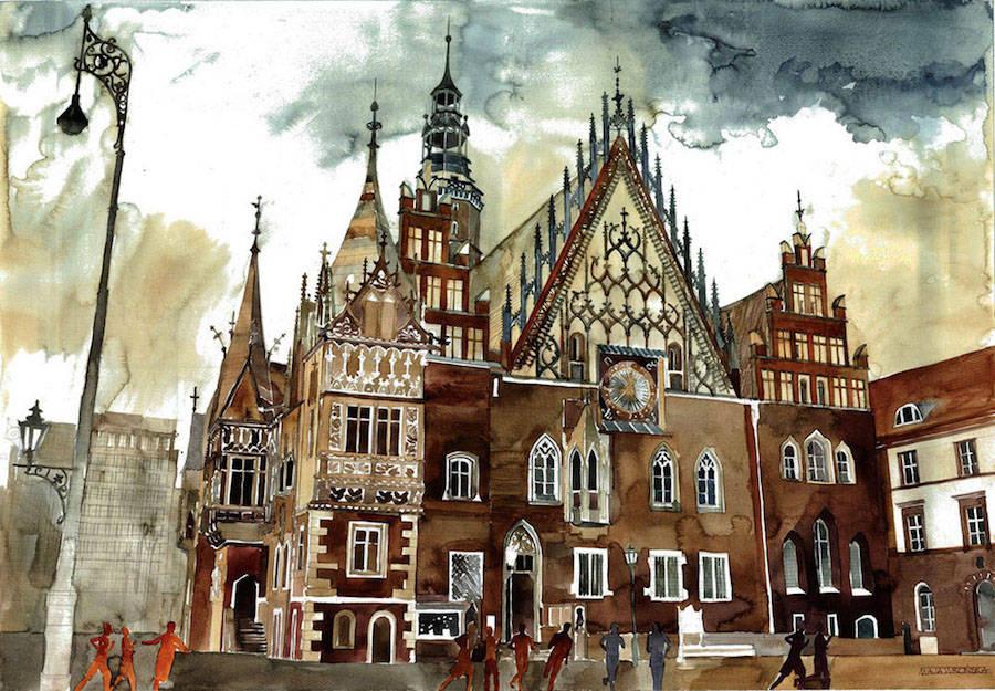 Colorful Watercolor Paintings by Maja Wronska