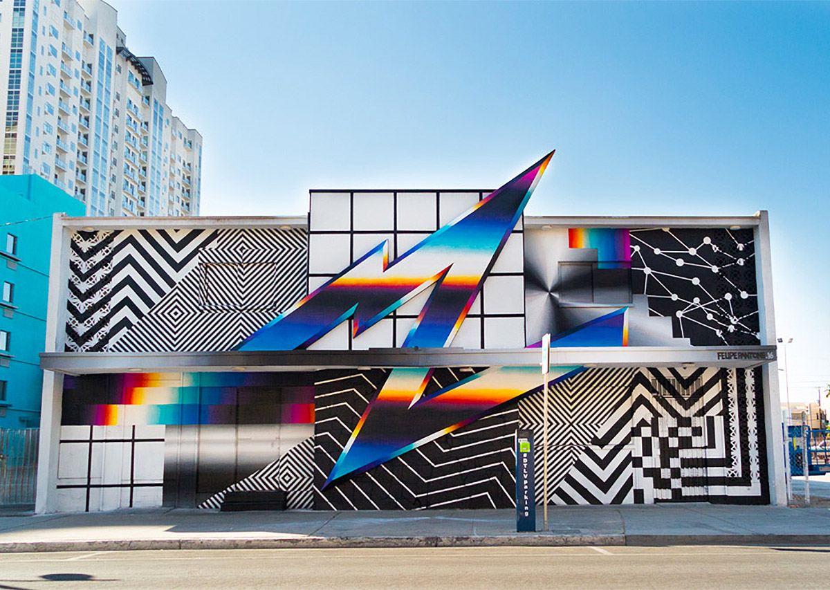 Chromatic Murals by Felipe Pantone (12 pics)