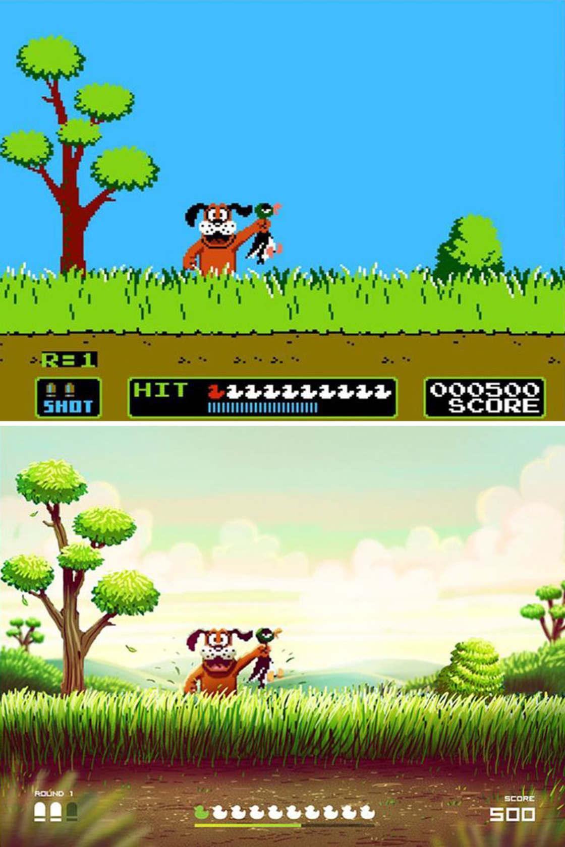 Un illustrateur donne un coup de jeune aux jeux video retro de la NES