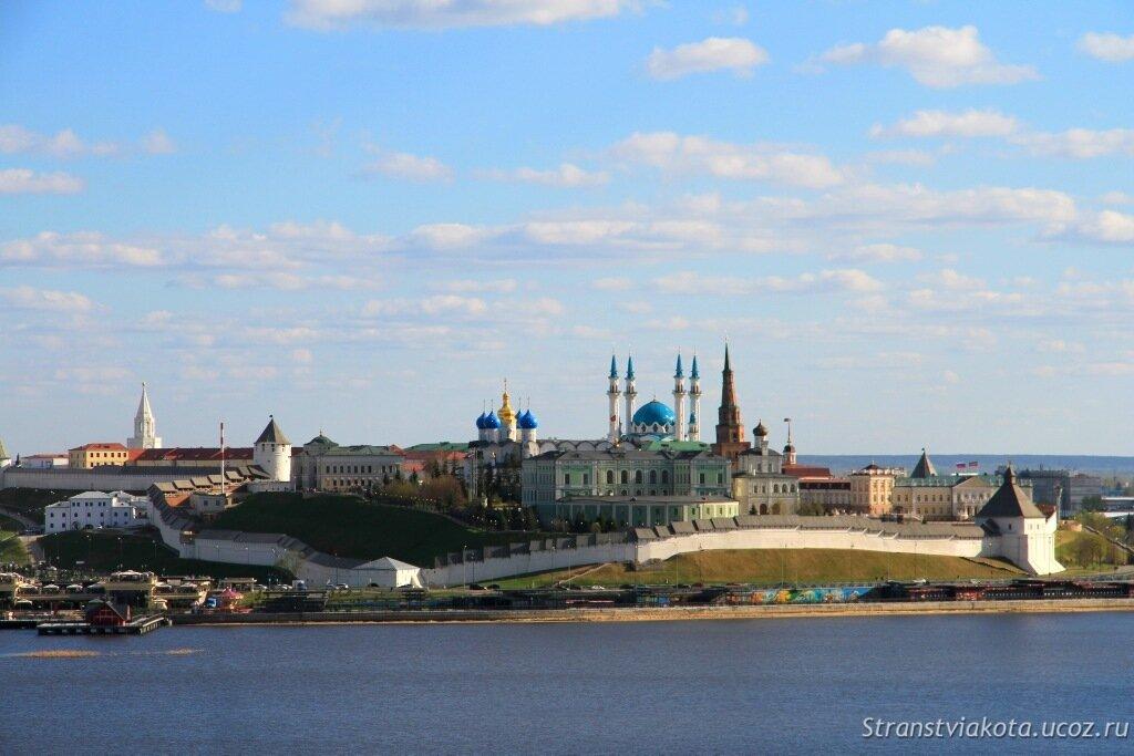 Казанский Кремль, вид со стороны Казана, смотровая площадка
