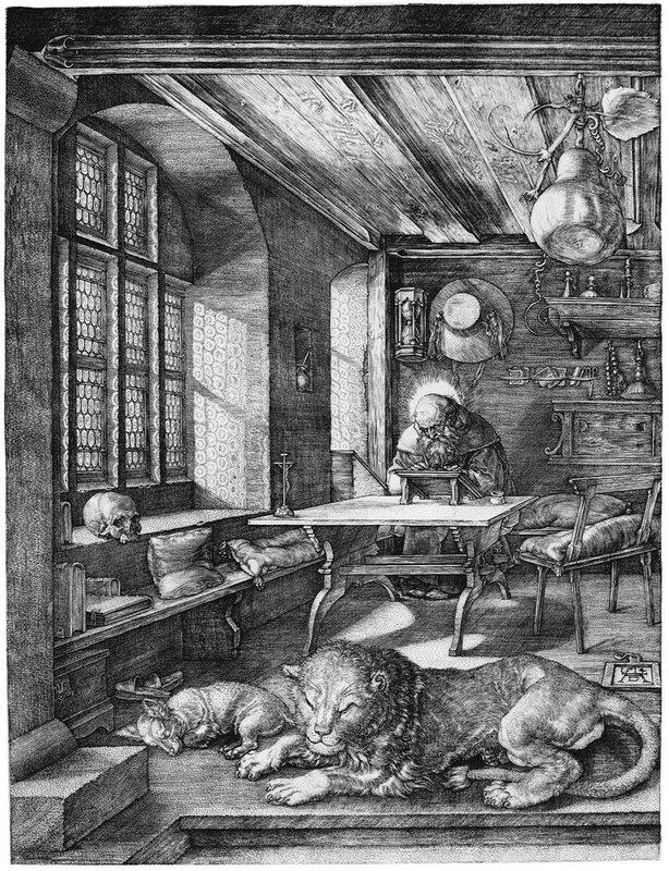 Блаженный Иероним Стридонский Святой Иероним в своей келье,Альбрехт Дюрер (1471–1528)