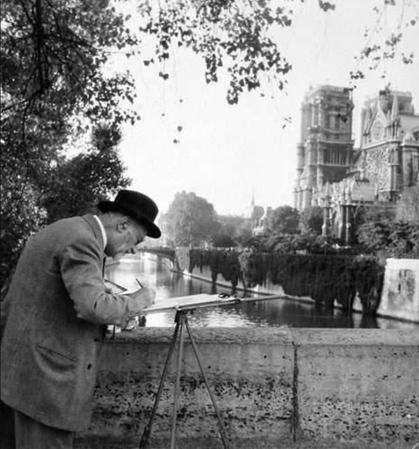 1954. Художник, Париж