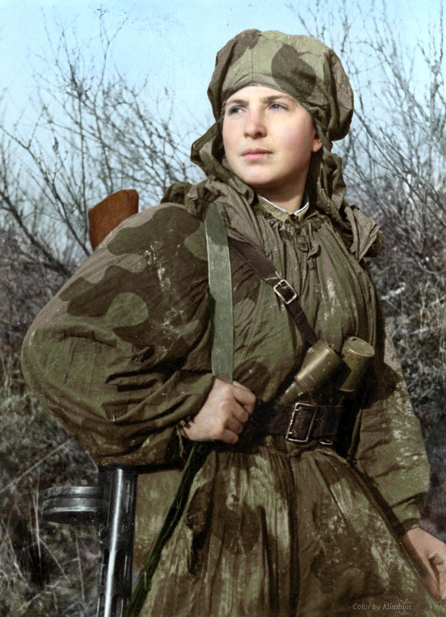 Сапер-разведчица Александра Днепровская, 1943