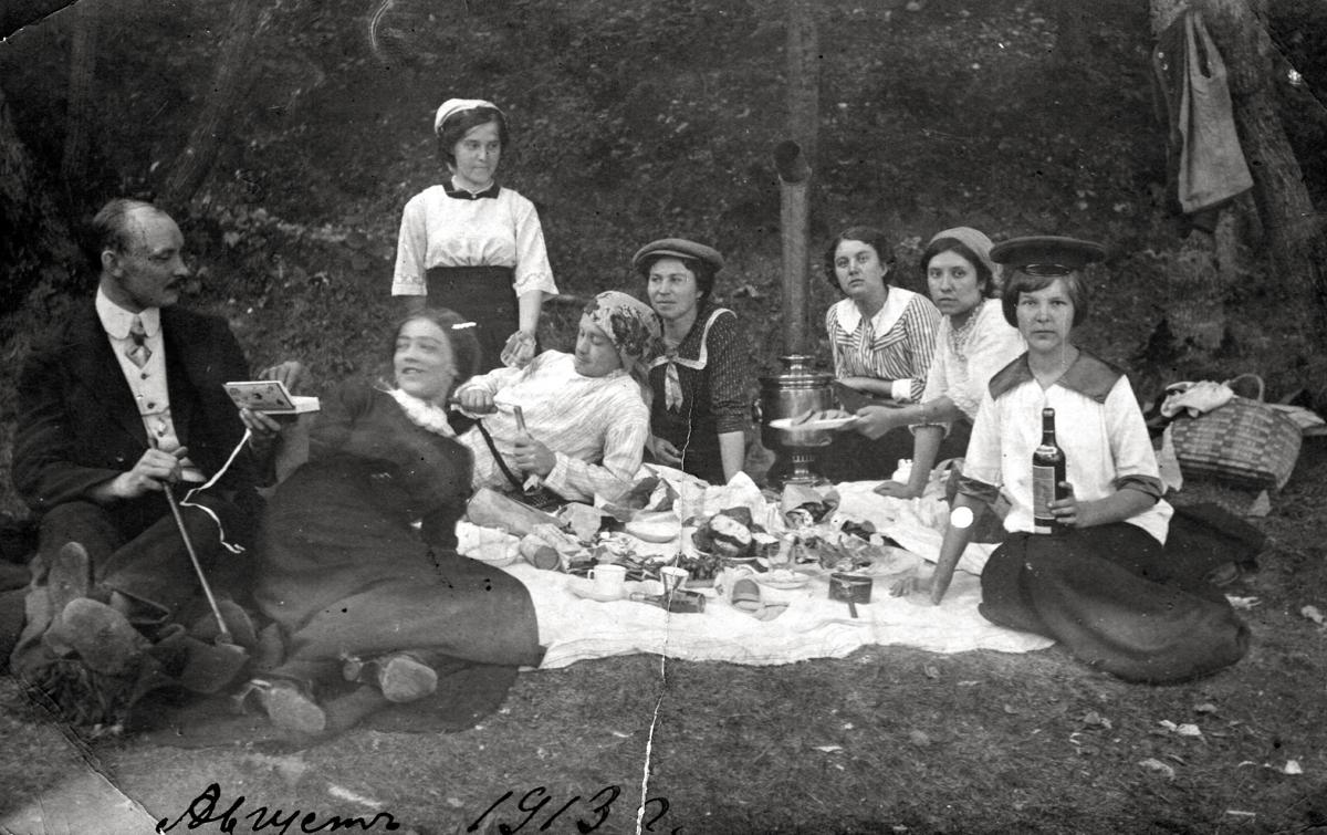 Пикник ставропольцев в Жигулях, 1913