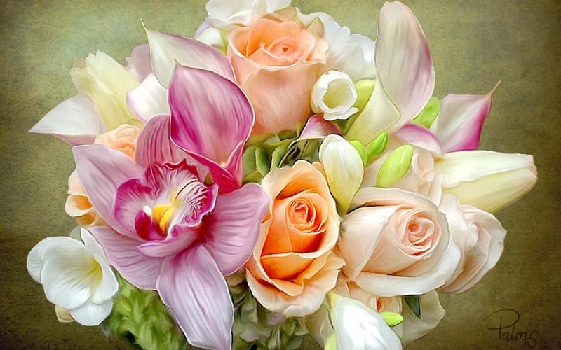 День учителя. Цветы