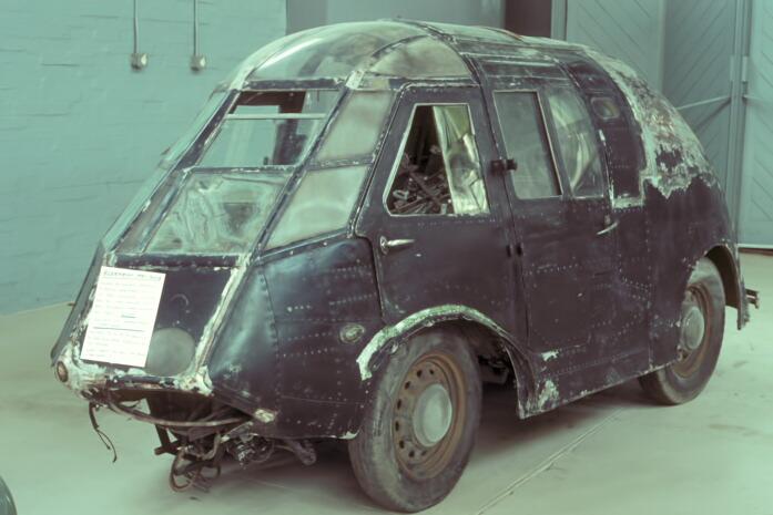 electric car made of a scrap Bristol Blenheim