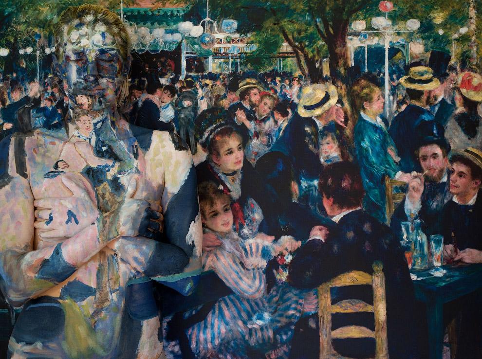 6. Композиция «179 400 000». Исчезновение на фоне картины «Алжирские женщины» испанского художн