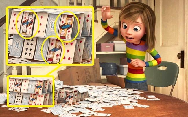 © Walt Disney  Наблюдательные зрители могли заметить, что накартах, изкоторых Райли строит к