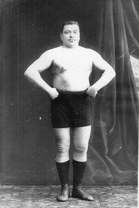 Портрет борца, участника чемпионата, Шнейдера