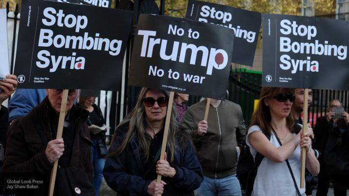 ВНью-Йорке протестовали против ударов поСирии— есть схваченные