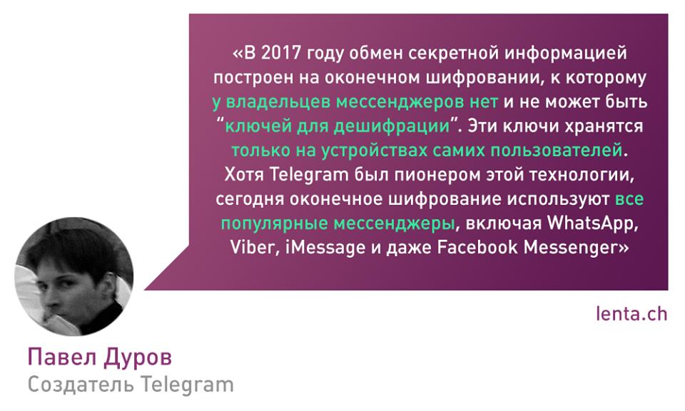 Новый ответ Павла Дурова касательно Telegram
