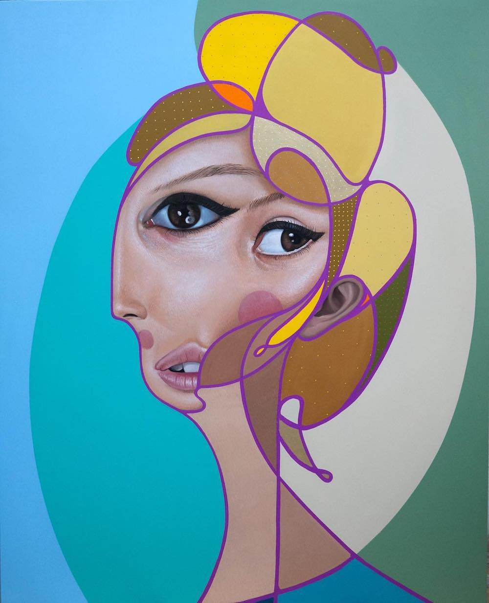 New Paintings Which Combine Cubist and Realist Elements by 'Belin'