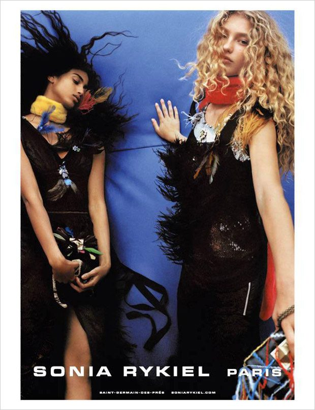 Imaan Hammam & Dorit Revelis Model Sonia Rykiel FW17 Collection