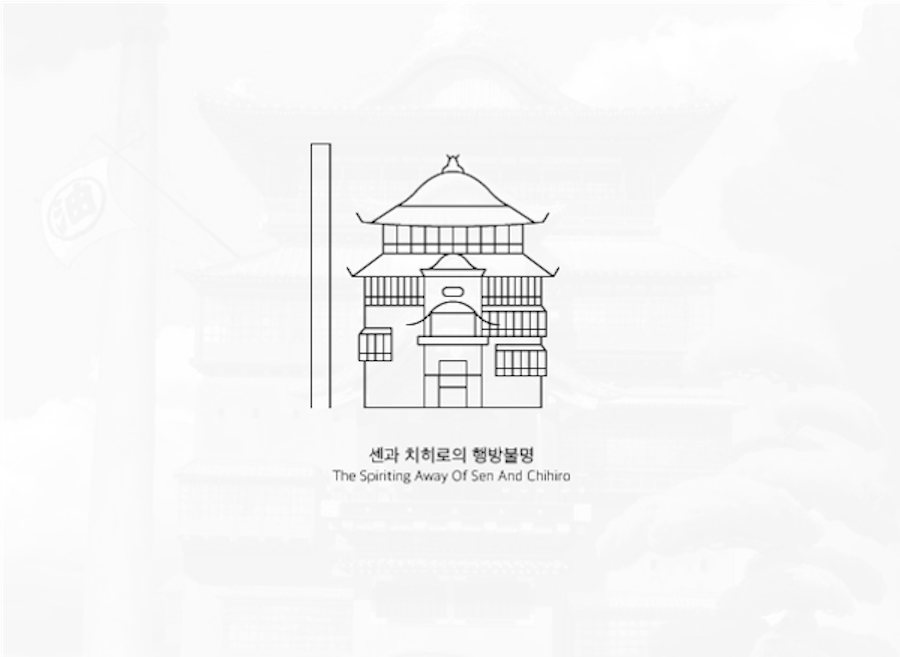 Black and White Icons Inspired by Studio Ghibli Films