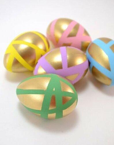 Декоративные яйца с золотым декором