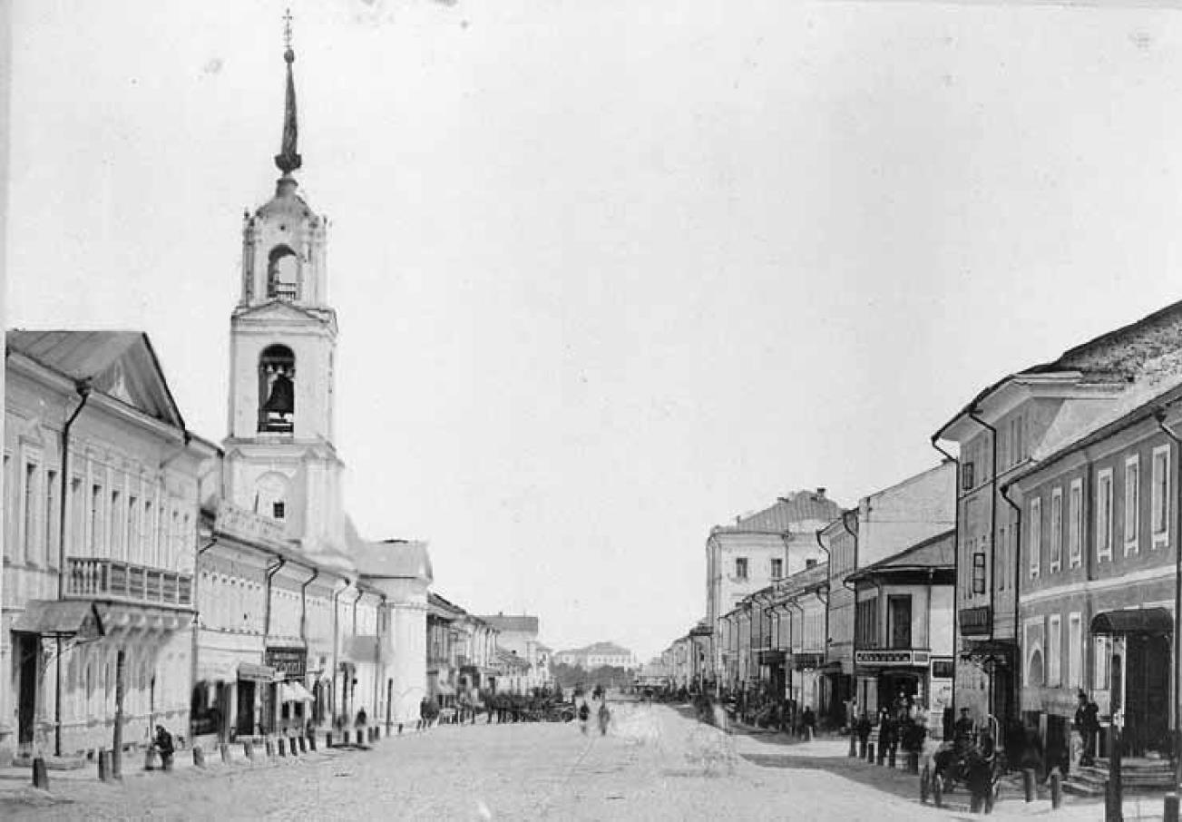 Большая Московская улица. Вид с запада от Золотых ворот. Каменная застройка. Грачев Н. П. 1884-1887