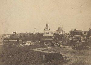 Вид на город Касимов с татарской горы от мечети. 1900-е