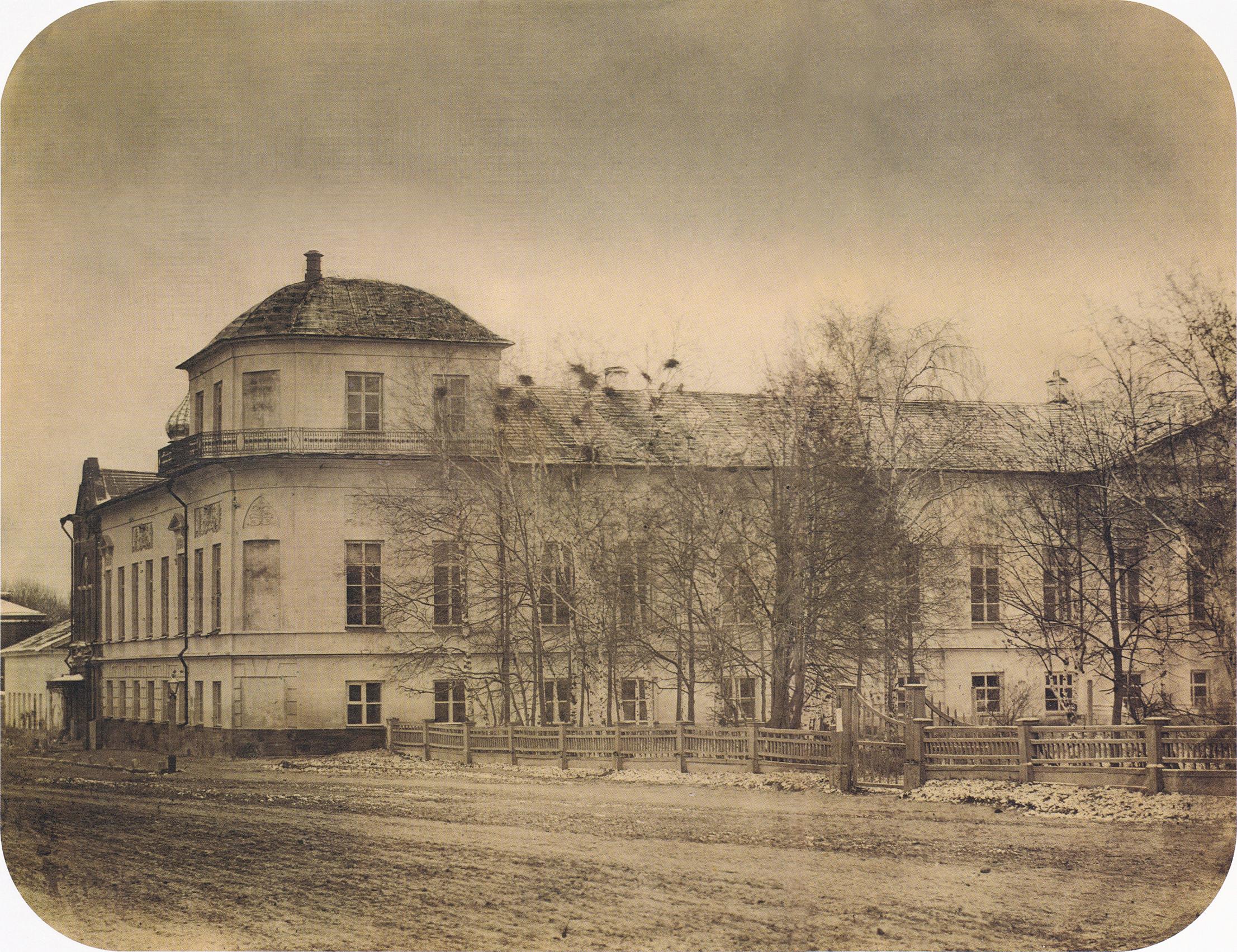 Владимирская улица. Здание пансионата Рязанской губернской гимназии. 1868