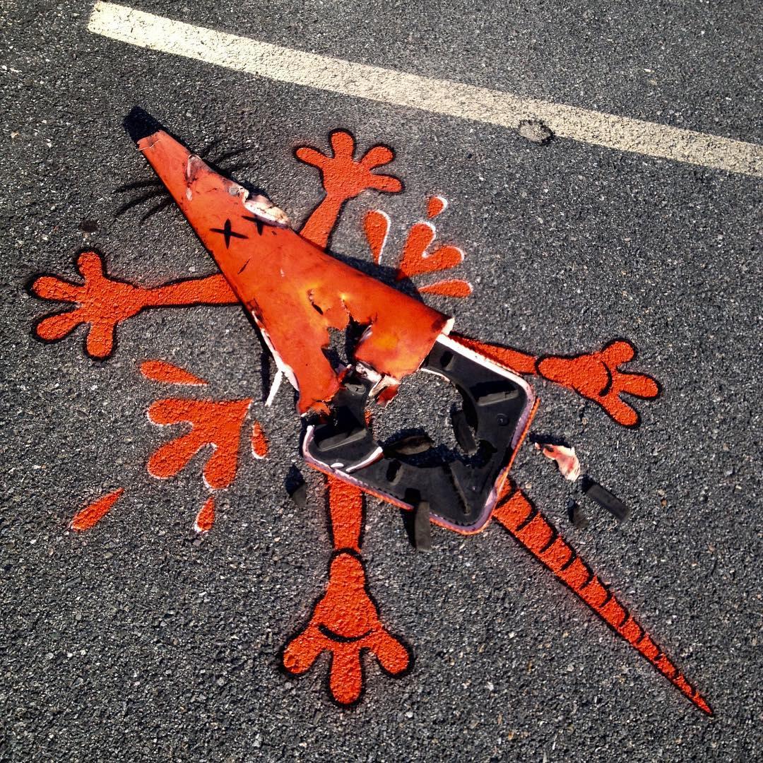 Уличный художник превращает обычные предметы в яркие арт-объекты