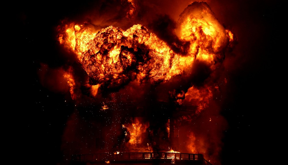 Кульминация фестиваля Burning Man 2017