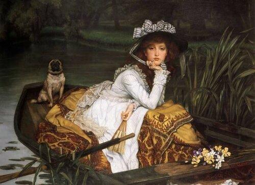 Джеймс Тиссо James Tissot 1836 — 1902  Девушка в лодке. 1870