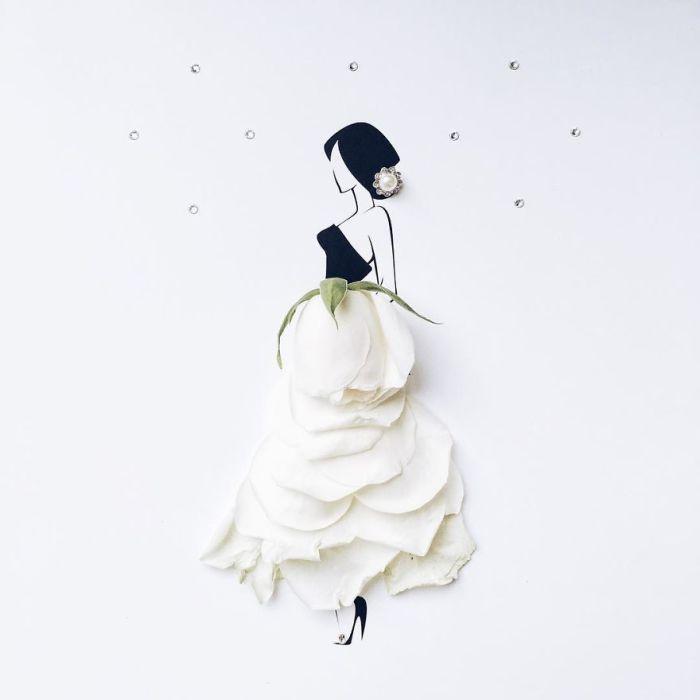 Платья из цветов