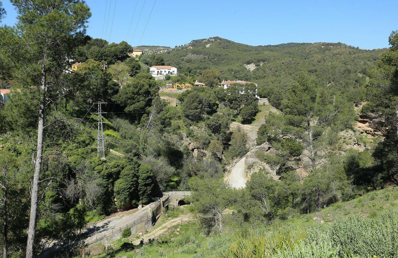 El Chorro. The Guadalhorce dam (Presa Conde De Guadalhorce)