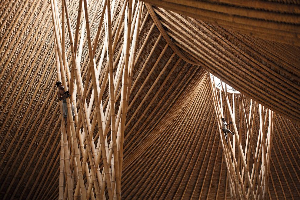 8. Выставочный зал Landesgarten в городе Швабиш-Гмюнд, Германия. Форма спроектирована на компью