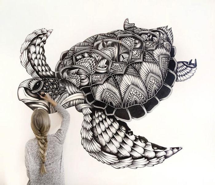 Линии и тени: 20 завораживающе детализированных рисунков животных