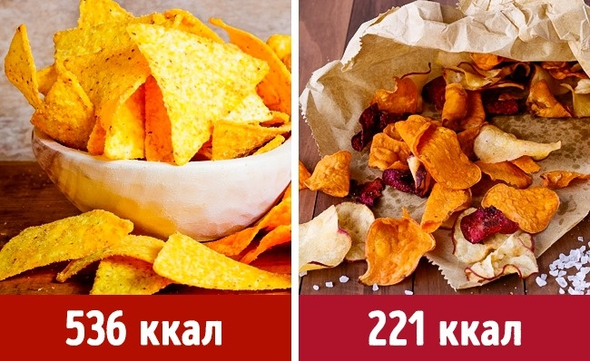 © depositphotos  © depositphotos  Вэтом случае все итак понятно: овощные чипсы, пригот