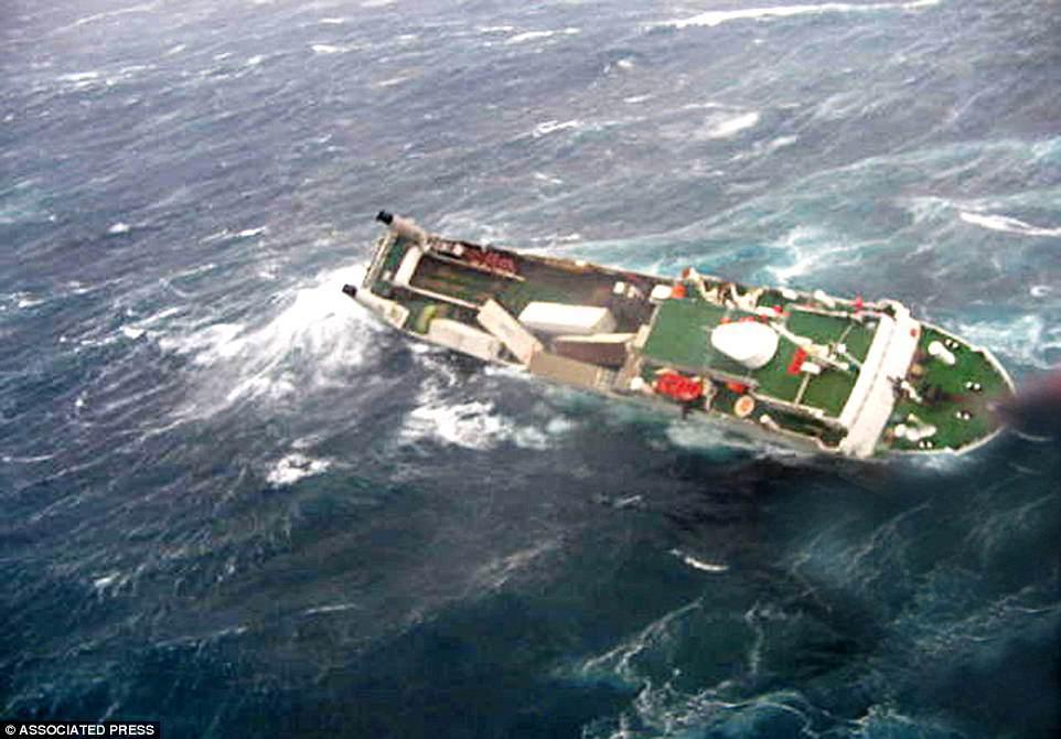Грузовое судно Pasha Bulker в море недалеко от Ньюкасла, Австралия, 2007 год.