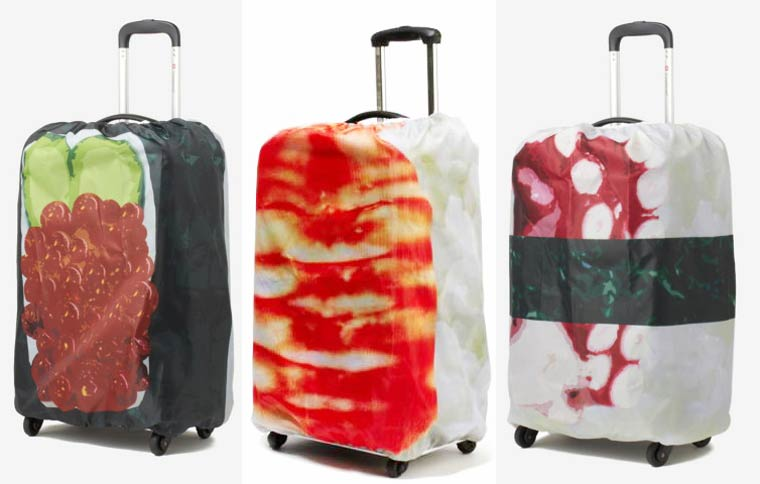 Sushi Suitcase - These cute covers will turn your suitcases into sushi