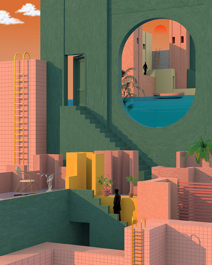 Colorful Illustrations by Tishk Barzanji