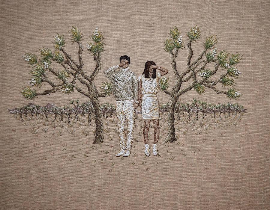 Embroidered Scenes by Michelle Kingdom (8 pics)