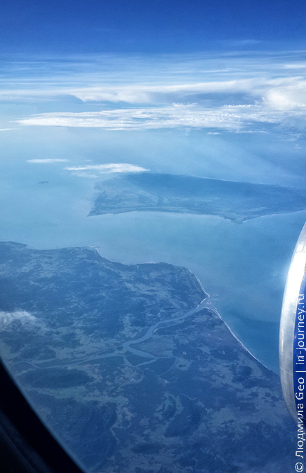 вид из самолета фото