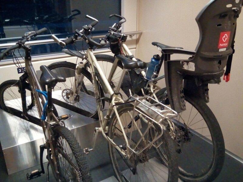 провоз велосипедов в финском поезде кемийоки - хельсинки (Kemijoki - Helsinki)
