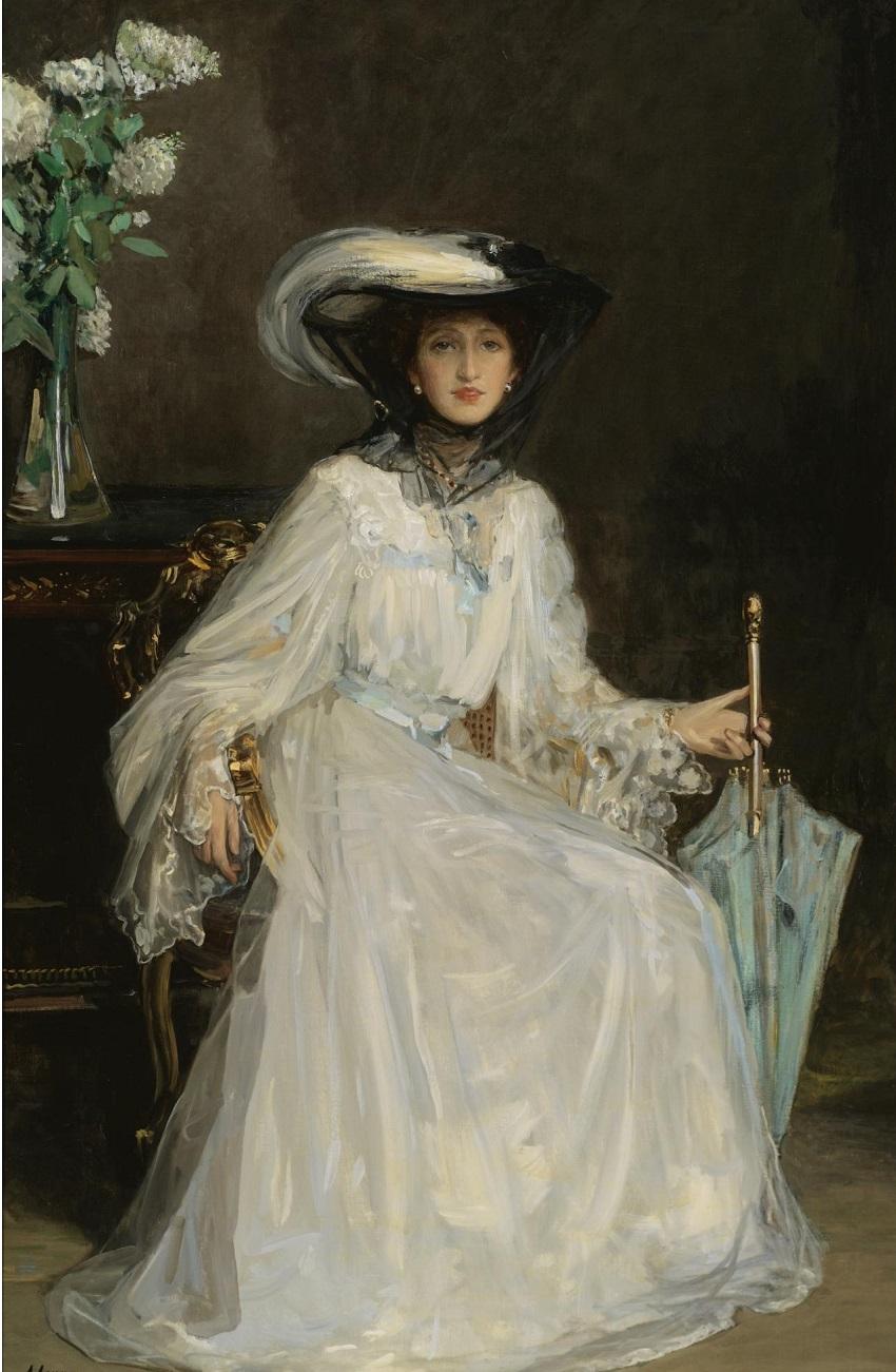 Evelyn Farquhar wife of Captain Frencis Douglas Farquhar. 1906.jpg